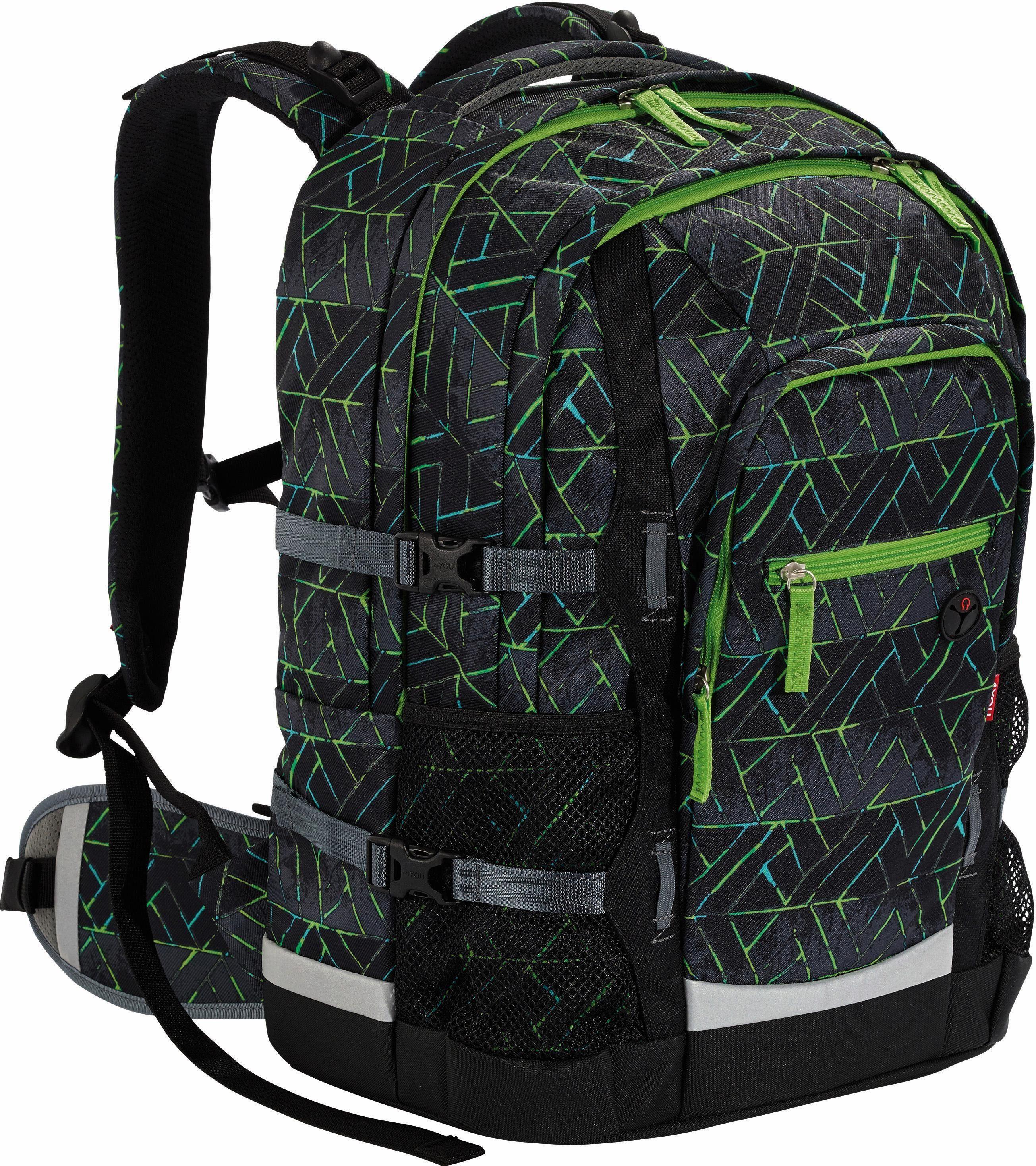4YOU Schulrucksack, »Jampac Neonprints«