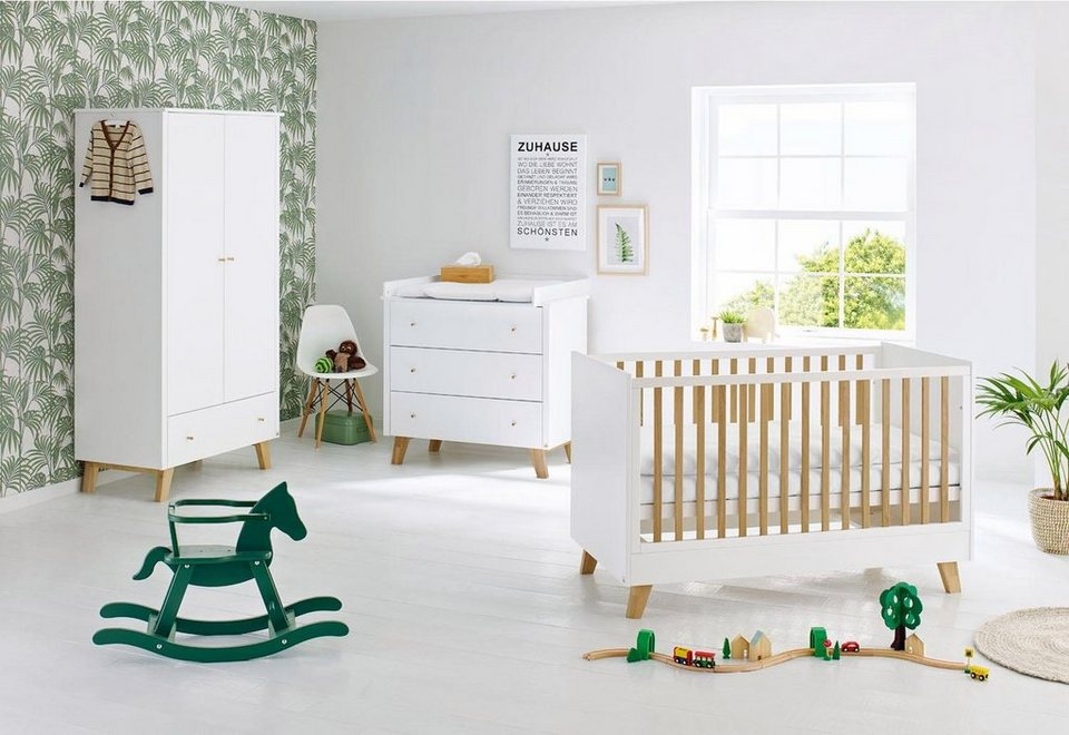 pinolino babyzimmer set 3 tlg kinderzimmer pan breit online kaufen otto. Black Bedroom Furniture Sets. Home Design Ideas