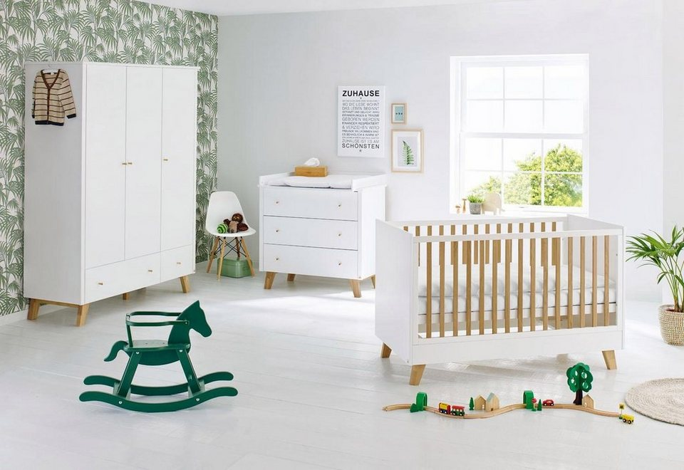 pinolino babyzimmer set 3 tlg kinderzimmer pan breit. Black Bedroom Furniture Sets. Home Design Ideas