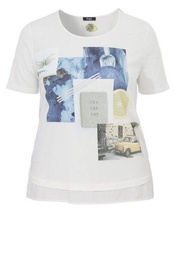 FRAPP T-Shirt mit sommerlichem Front-Print