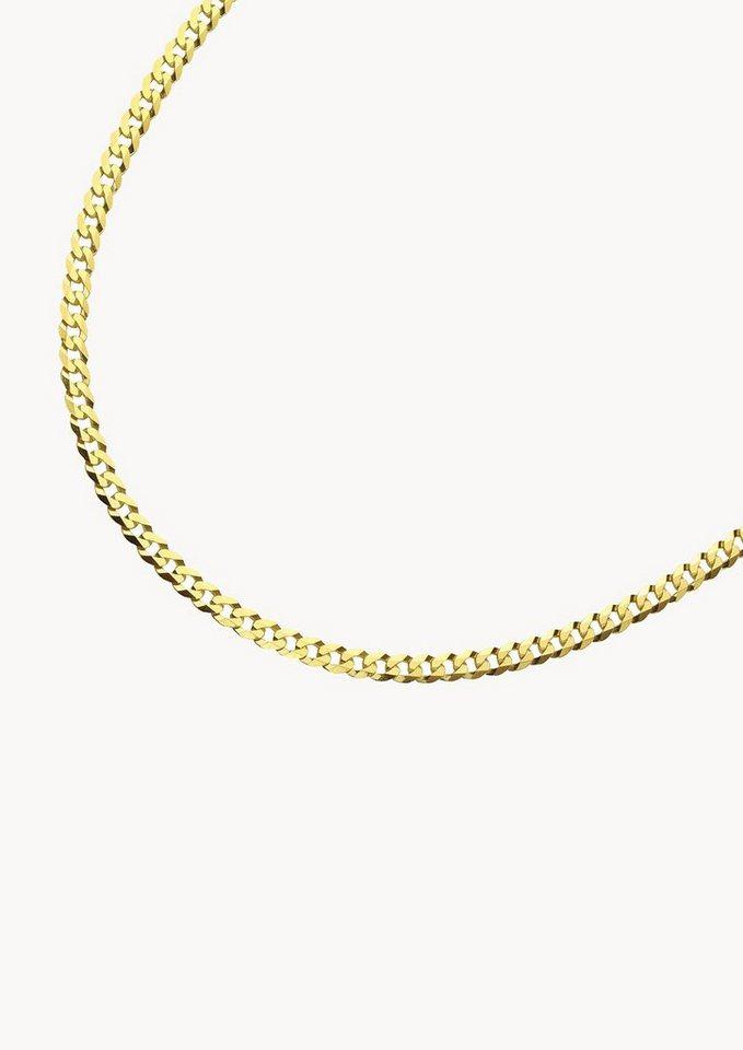 firetti Halsschmuck: Halskette in Panzerkettengliederung, 6-fach diamantiert in Gelbgold 585