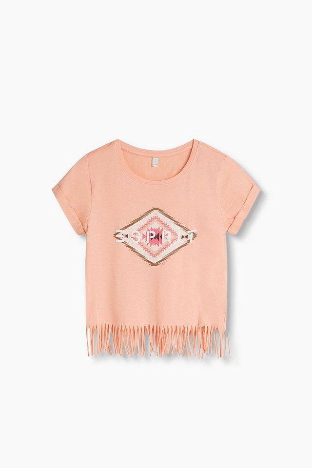 esprit print shirt mit fransen 100 baumwolle otto. Black Bedroom Furniture Sets. Home Design Ideas