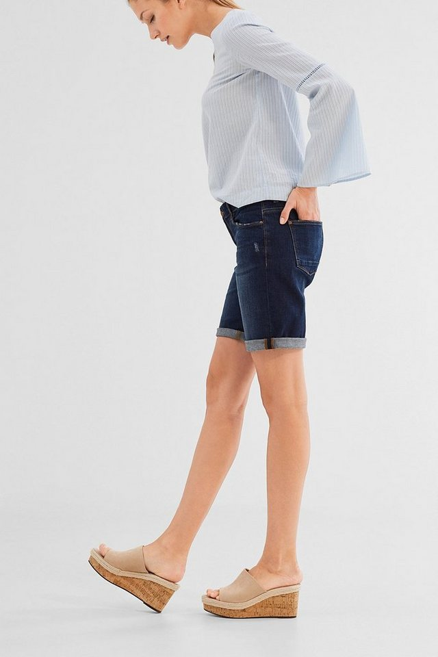 esprit casual denim shorts im used look mit stretch online kaufen otto. Black Bedroom Furniture Sets. Home Design Ideas