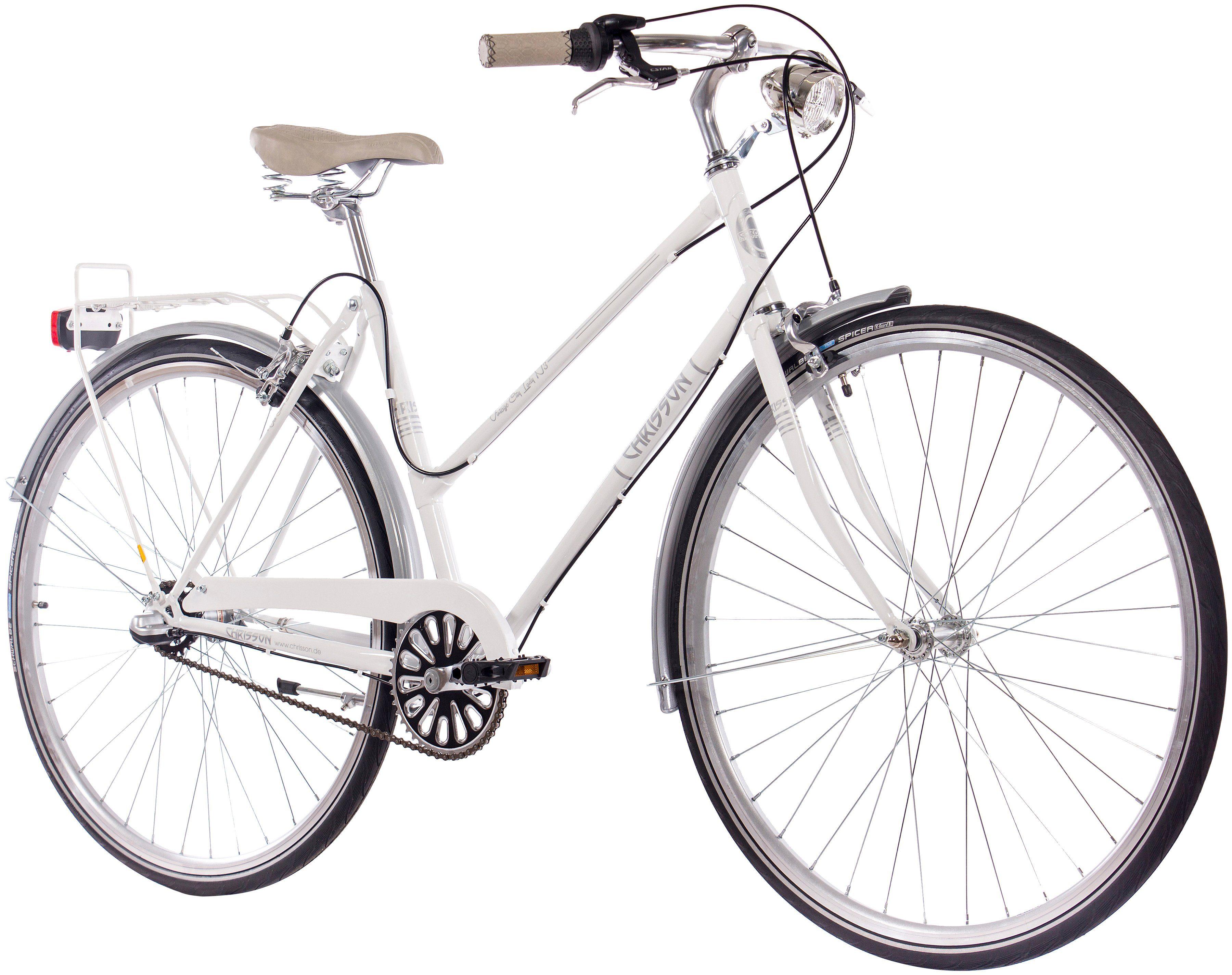 CHRISSON Citybike Damen »VINTAGE CITY LADY N3«, 28 Zoll, 3 Gang, Rücktrittbremse