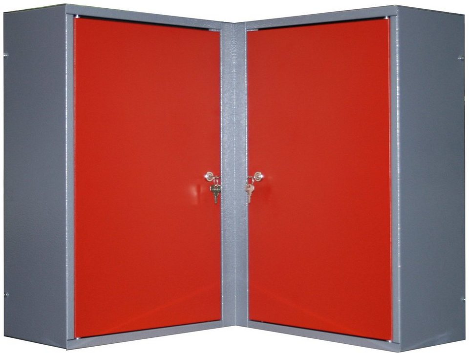k pper eck h ngeschrank 2 t ren 4 einlegeb den in rot online kaufen otto. Black Bedroom Furniture Sets. Home Design Ideas