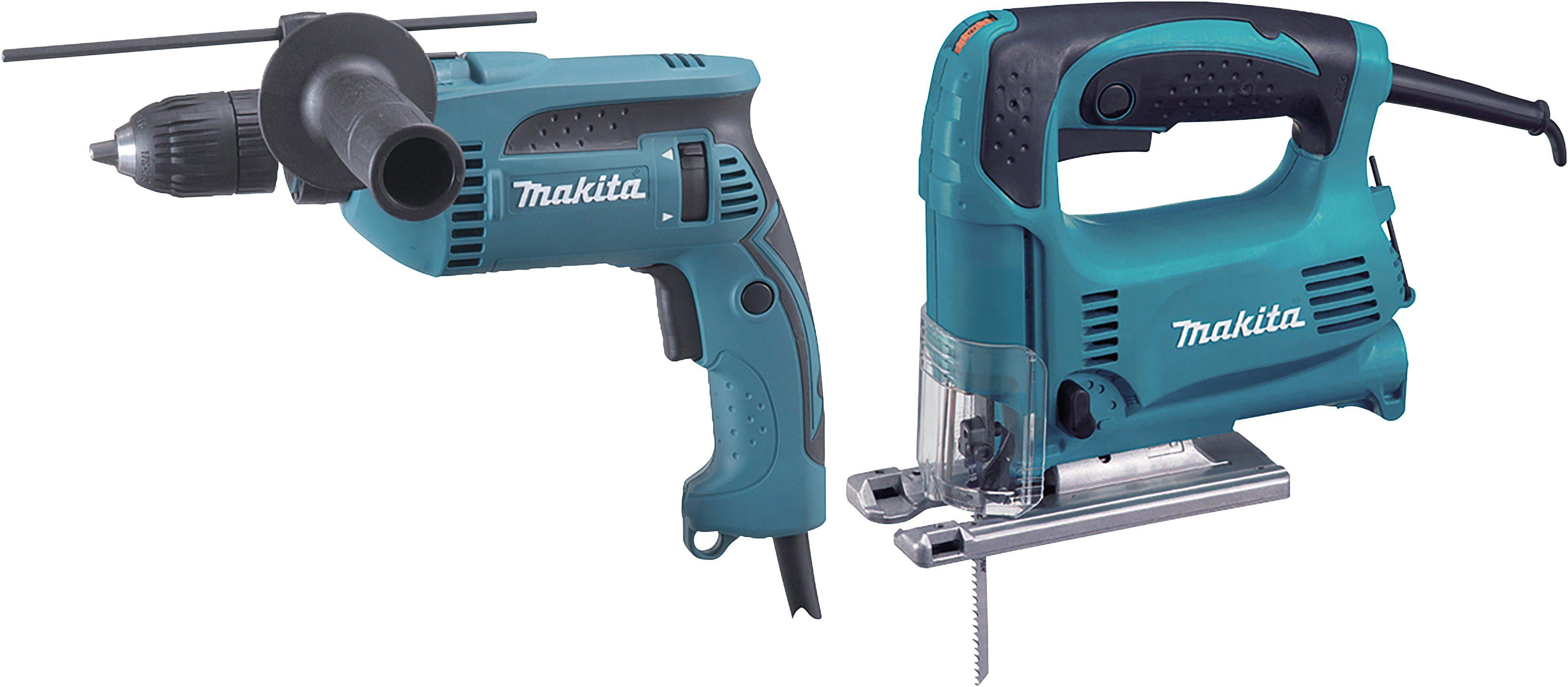 MAKITA Werkzeugset »DK0074«, Stichsäge ( 4329) + Schlagbohrmaschine (HP1641 )