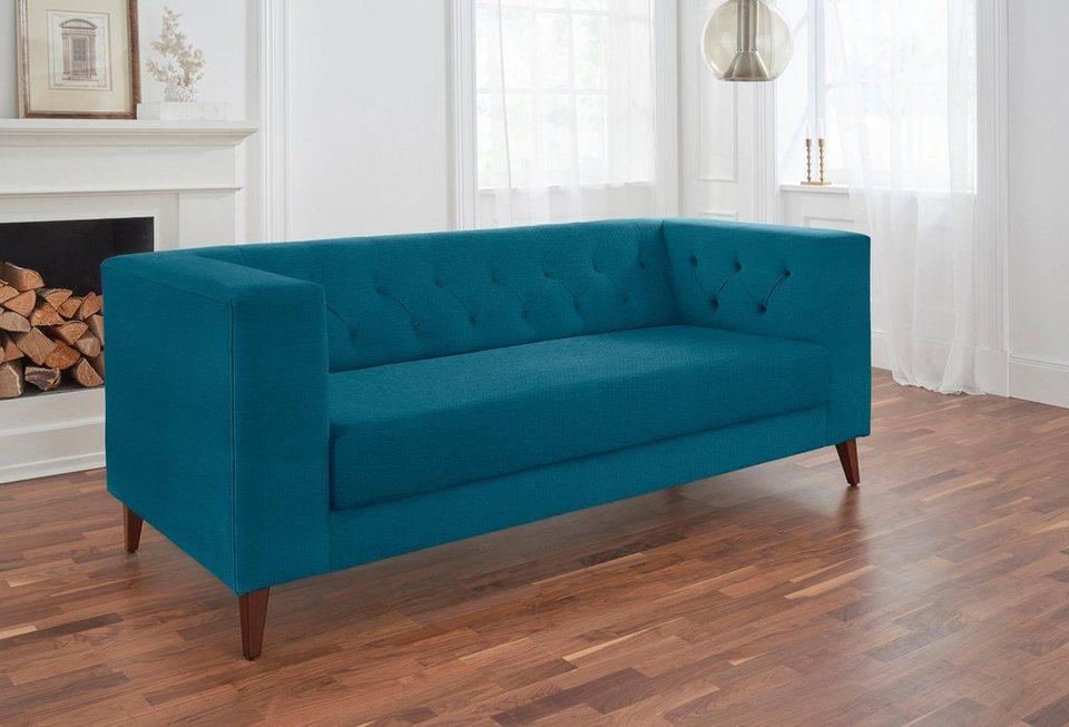 alte gerberei 2 sitzer sofa evelin mit knopfheftung. Black Bedroom Furniture Sets. Home Design Ideas