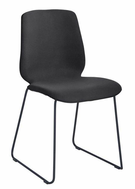 Stühle und Bänke - PBJ Stuhl »Sledge Cut« (2er Set) mit Kufengestell aus schwarzem Metall  - Onlineshop OTTO