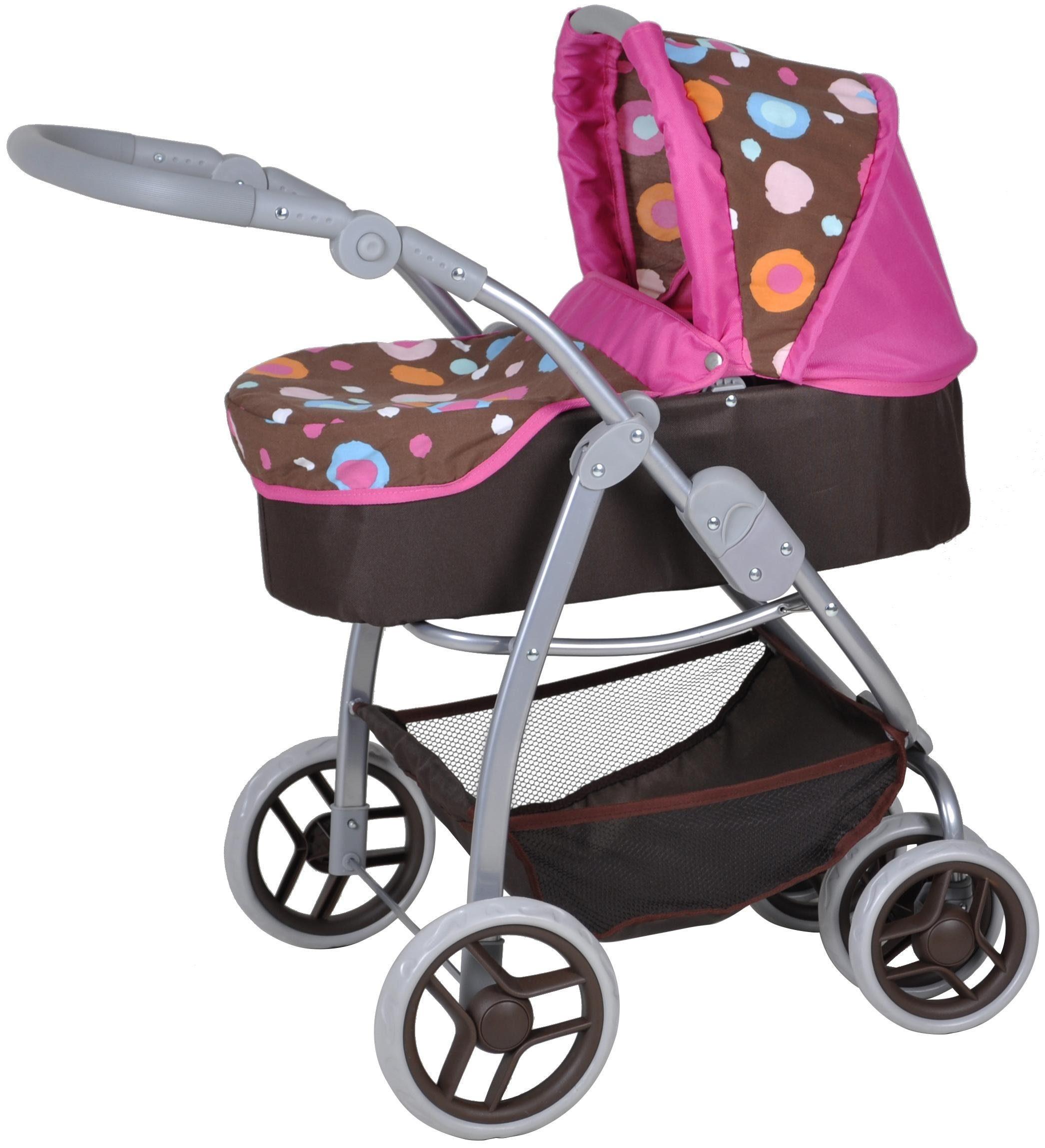knorr toys Puppenkombiwagen, »Coco Brown Splash«