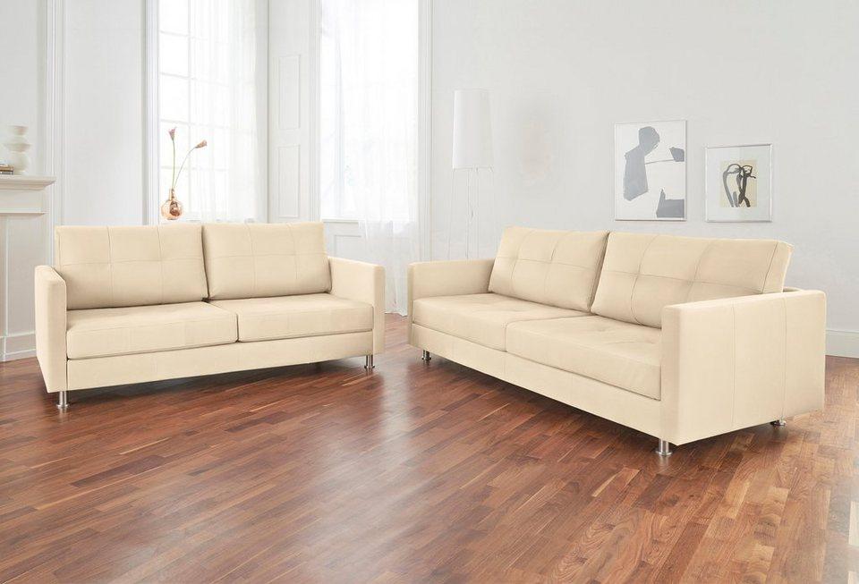 Alte Gerberei 2-Sitzer Sofa »Vincent« mit Steppung, inklusive ...