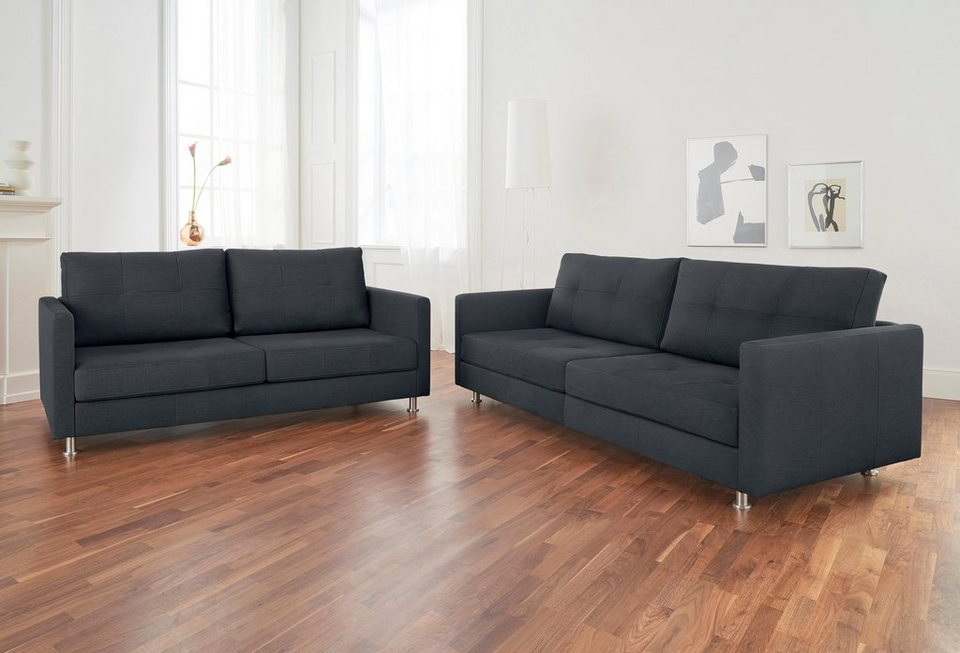 alte gerberei 2 sitzer sofa vincent mit steppung inklusive r ckenkissen online kaufen otto. Black Bedroom Furniture Sets. Home Design Ideas