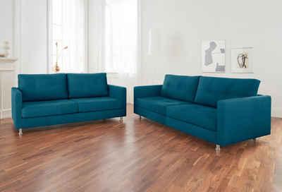 Alte Gerberei 2 Sitzer Sofa »Vincent« Mit Steppung, Inklusive Rückenkissen