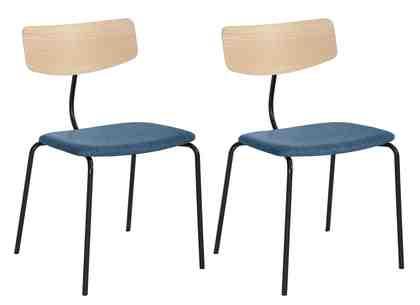 andas Stühle »Factory« mit Leder oder Stoffbezug, 2-Set