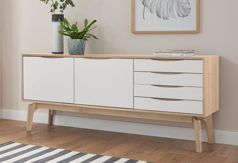 andas sideboard edge white oak breite 195 cm otto. Black Bedroom Furniture Sets. Home Design Ideas