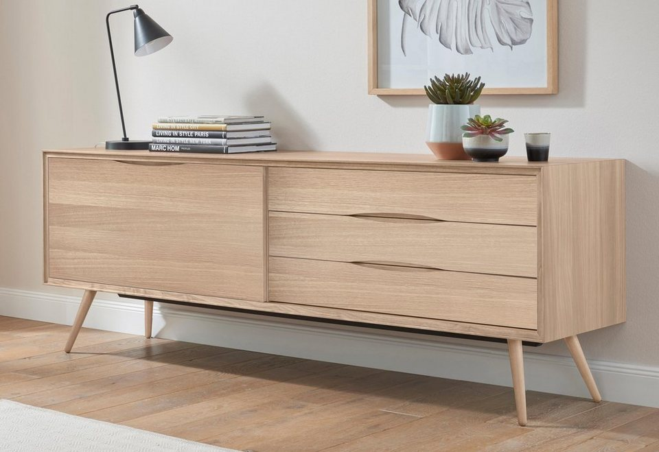 andas sideboard stick in walnut oder white oak breite 200 cm online kaufen otto. Black Bedroom Furniture Sets. Home Design Ideas