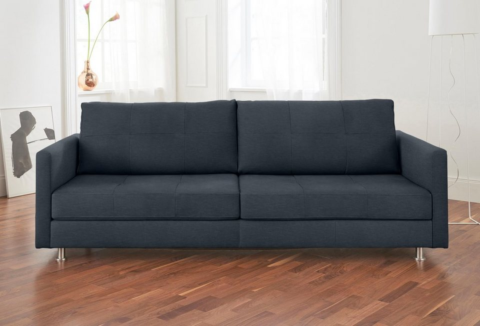 alte gerberei 3 sitzer sofa vincent mit steppung inklusive r ckenkissen online kaufen otto. Black Bedroom Furniture Sets. Home Design Ideas