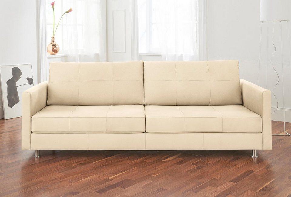 Alte Gerberei 3-Sitzer Sofa »Vincent« mit Steppung, inklusive ...
