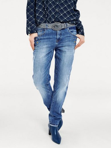 B.C. BEST CONNECTIONS by Heine Boyfriend-Jeans im Used-Look