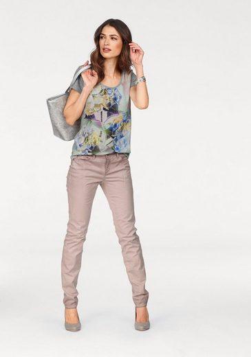 Laura Scott T-Shirt, mit Regenbogendruck