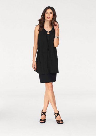 Laura Scott 2-in-1-Kleid, mit Schmuckdetail am Ausschnitt