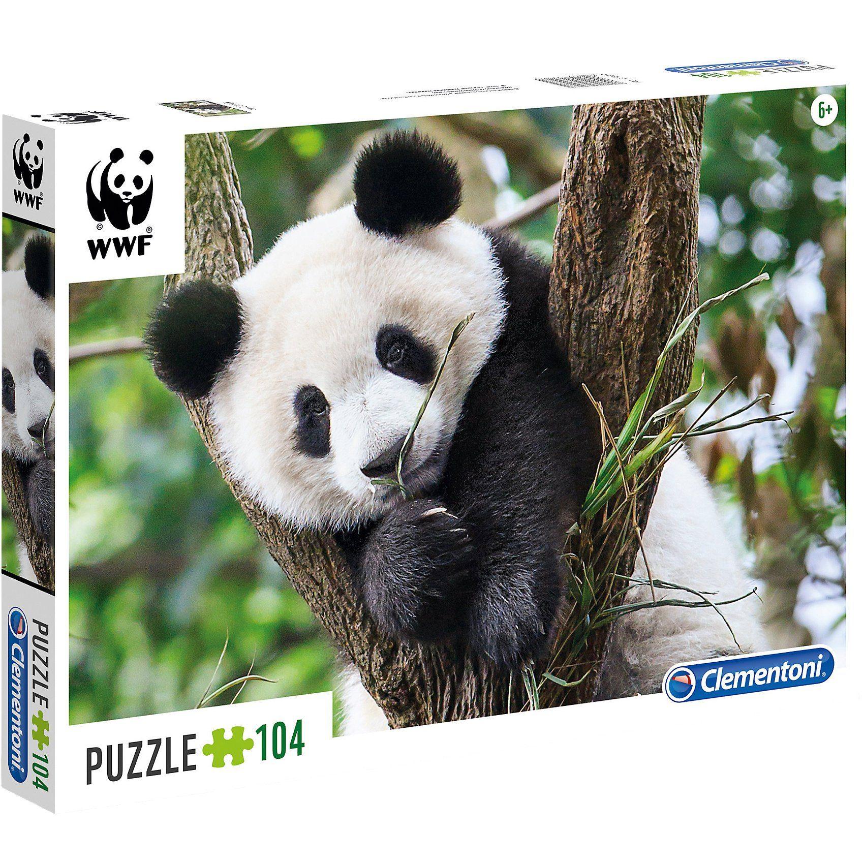 Clementoni® WWF Puzzle 104 Teile - Panda
