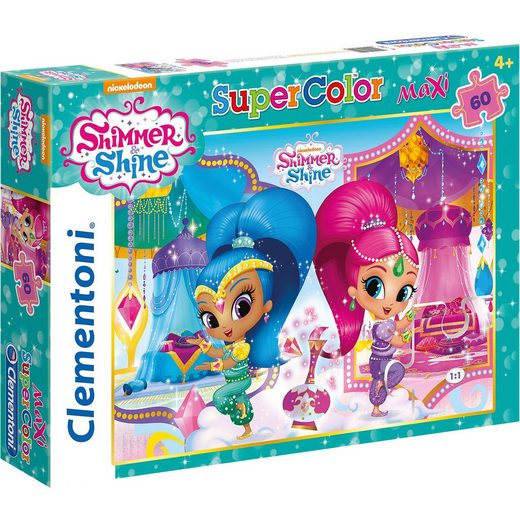 Clementoni® Maxipuzzle 60 Teile - Shimmer and Shine