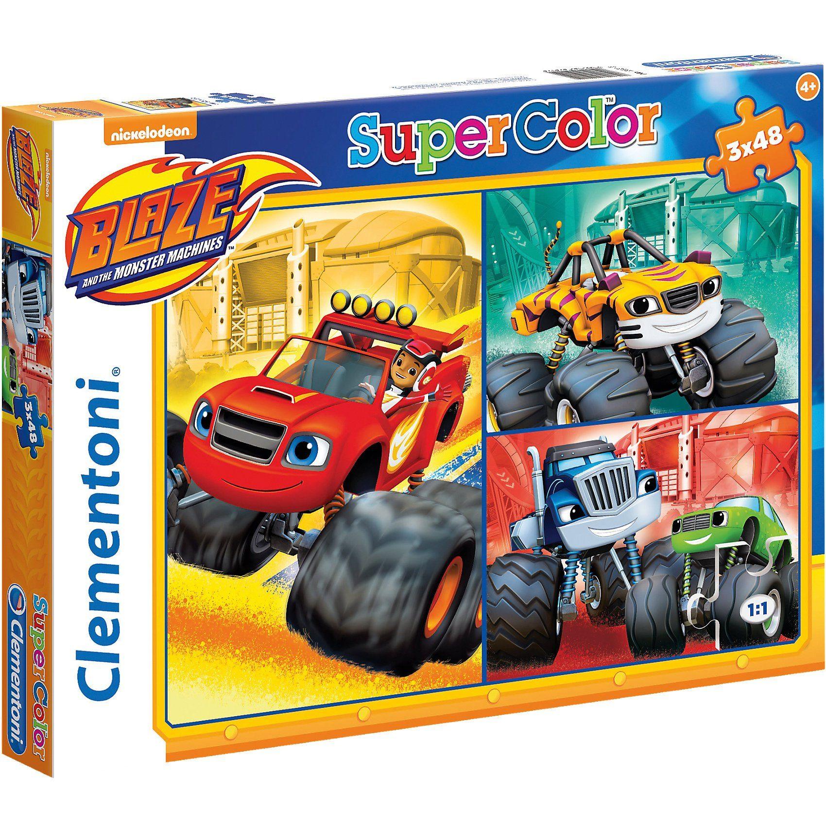 Clementoni® Puzzleset 3 x 48 Teile - Blaze