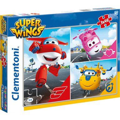 Clementoni® Puzzleset 3 x 48 Teile - Super Wings