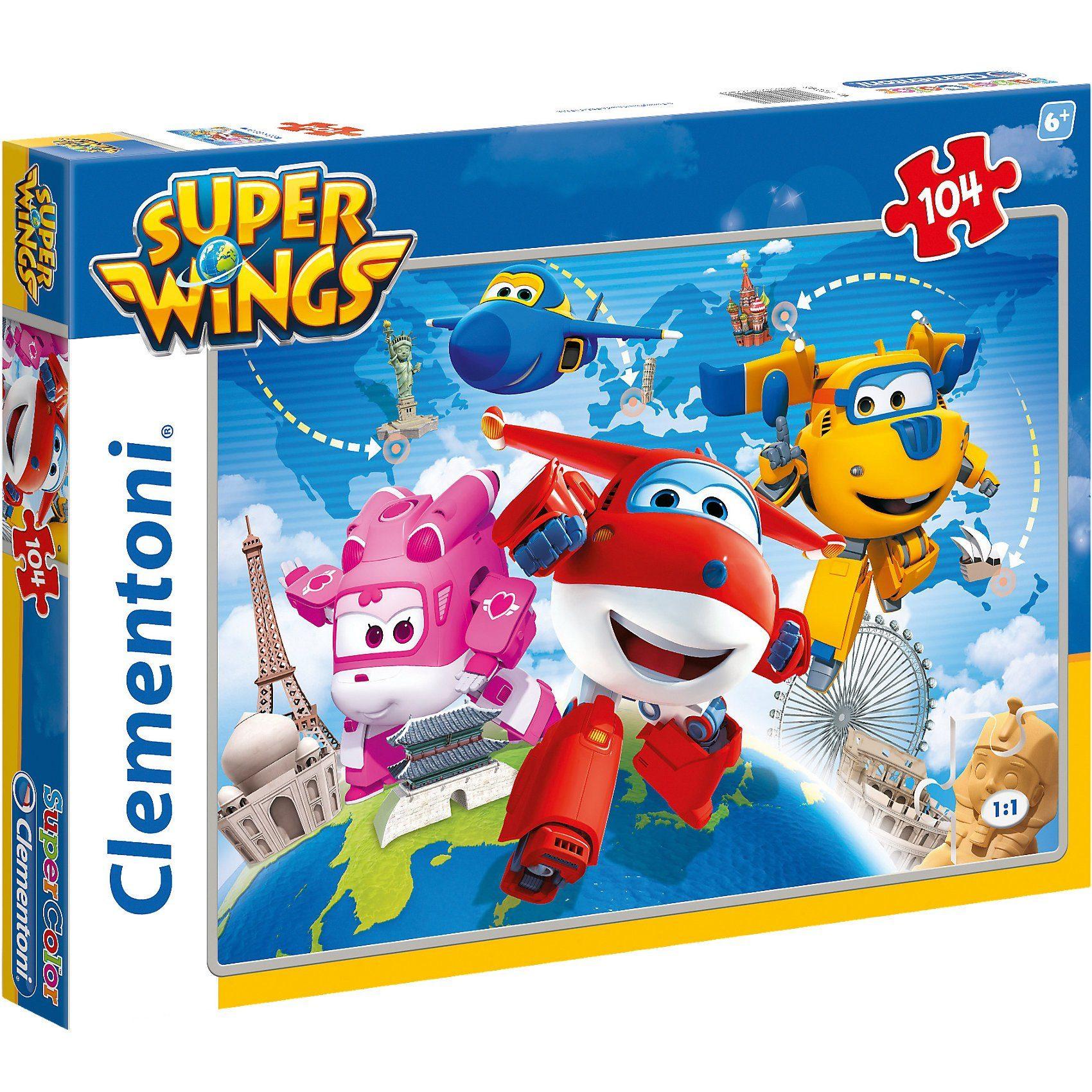 Clementoni® Puzzle 104 Teile - Super Wings