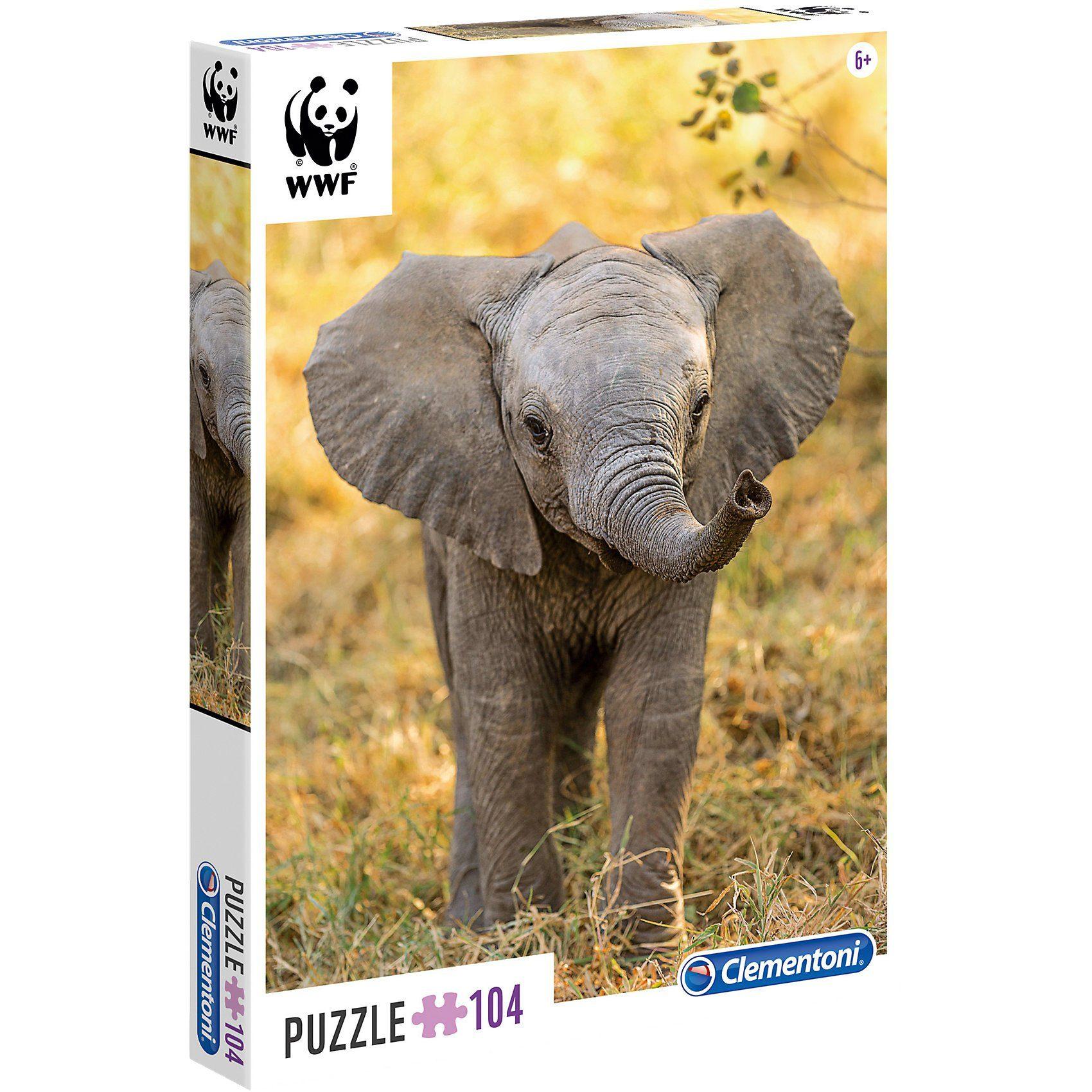 Clementoni® WWF Puzzle 104 Teile - Elefant