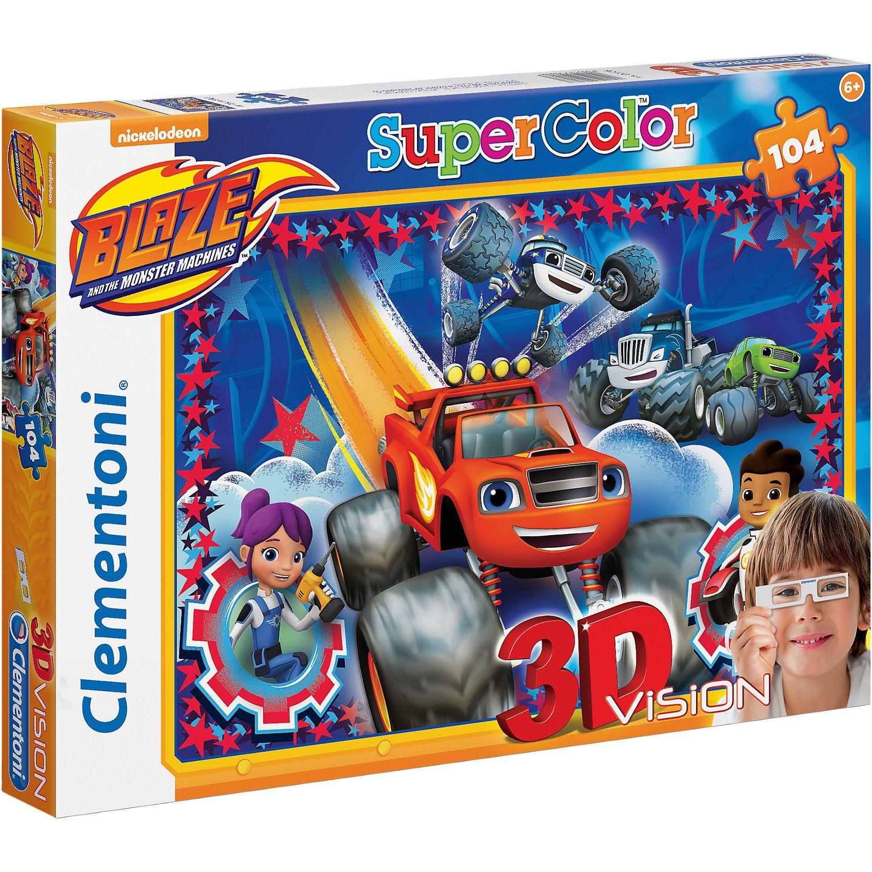 Clementoni® 3D Vision Puzzle 104 Teile - Blaze