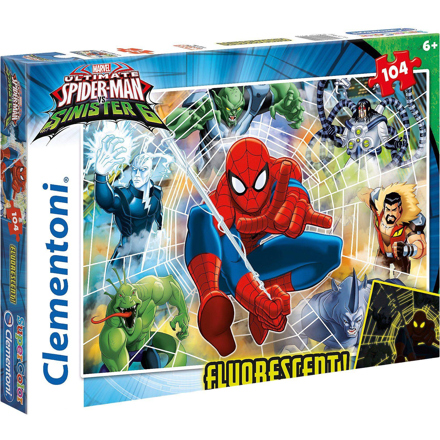 Clementoni Puzzle 104 Teile fluoreszierend - Spiderman