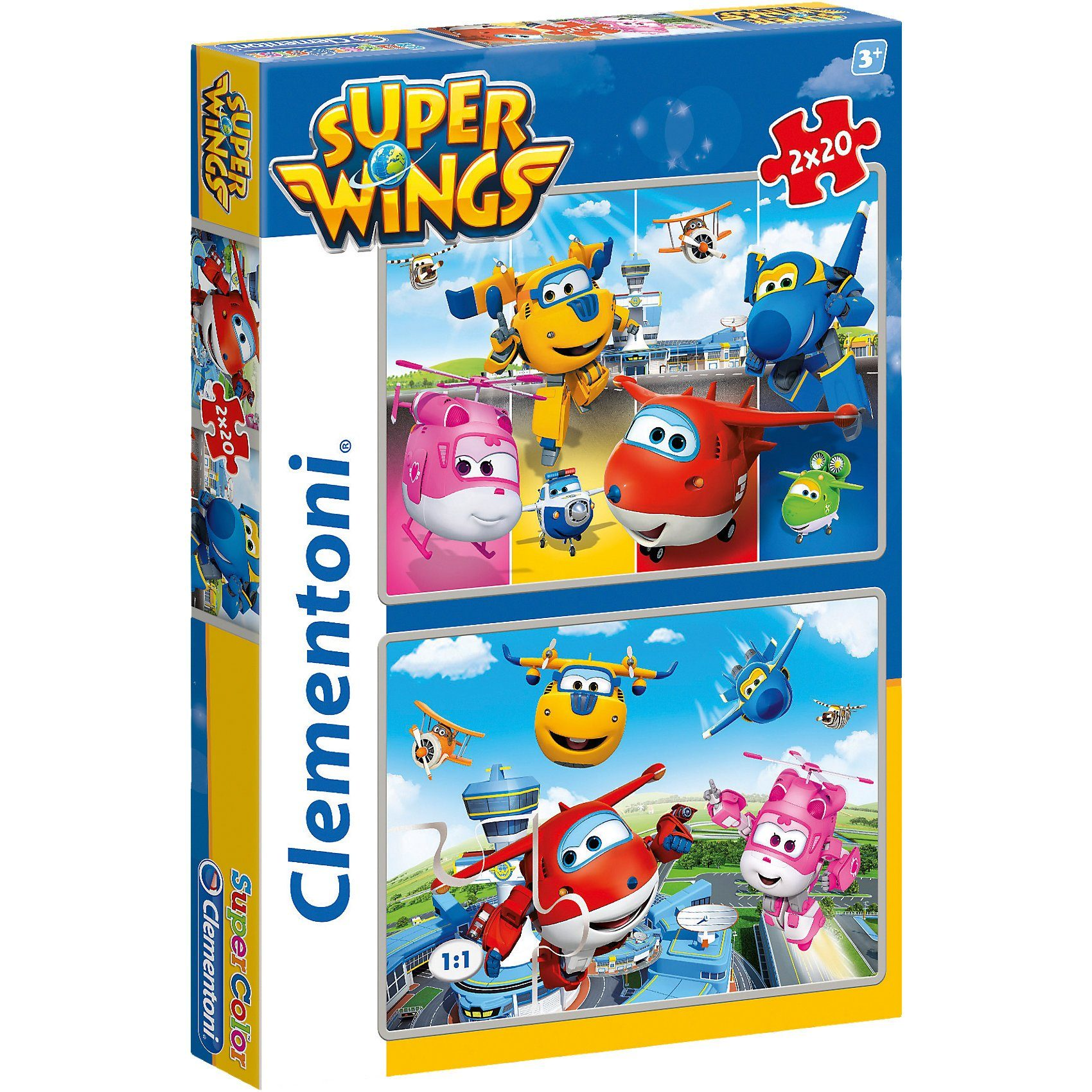 Clementoni® Puzzleset 2 x 20 Teile - Super Wings