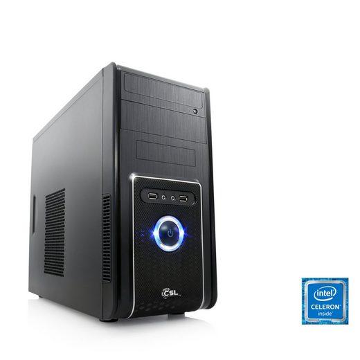 CSL Office PC, Intel QuadCore, Intel HD Graphic, 4 GB RAM, WLAN »Speed T1113 Windows 10 Home«