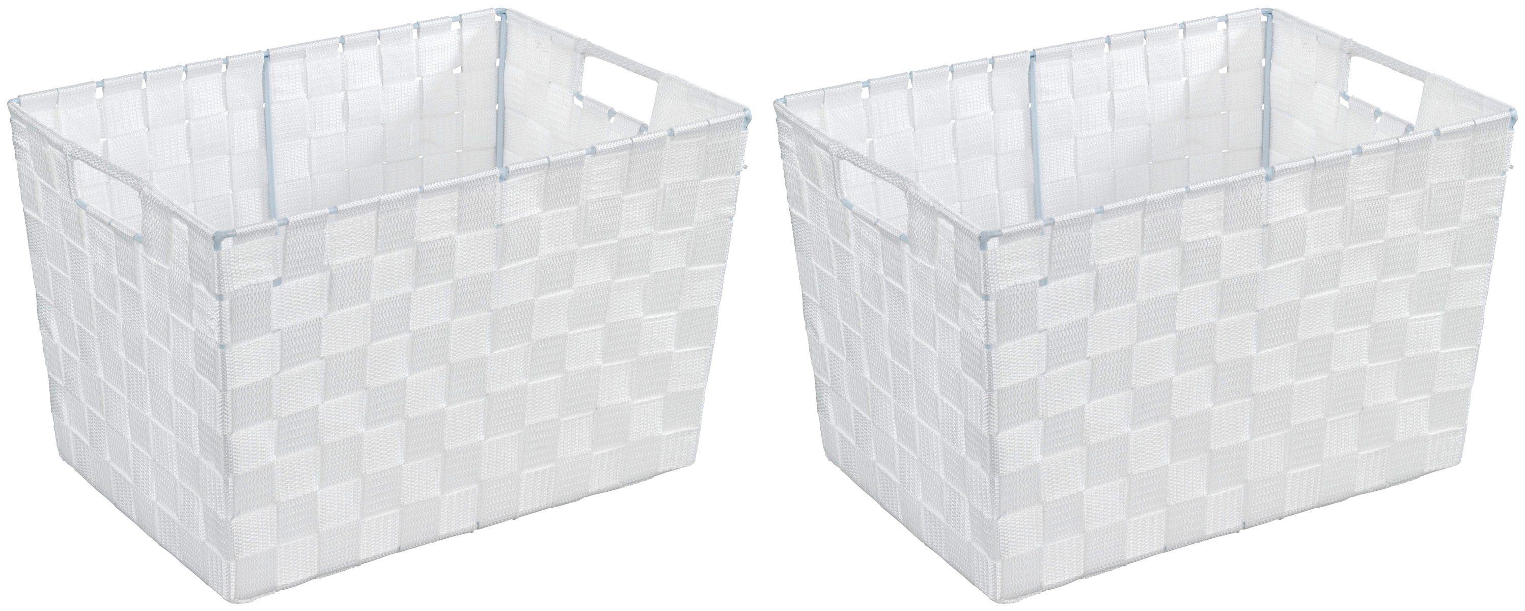 WENKO Aufbewahrungsbox »Adria Weiß«, Größe M, 2er-Set