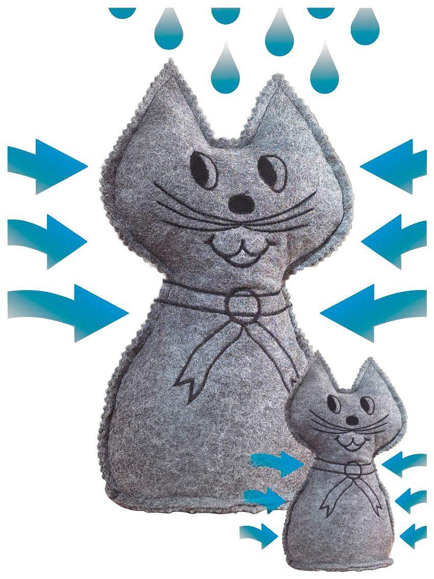 WENKO Luftentfeuchter »Katze«, 2er Set