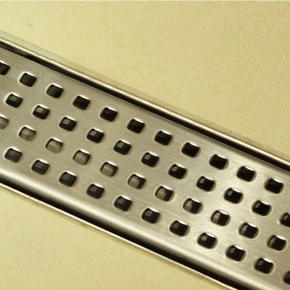 Home deluxe duschrinne duschablauf quadrat 140 cm breite for Schlafsofa breite 140 cm