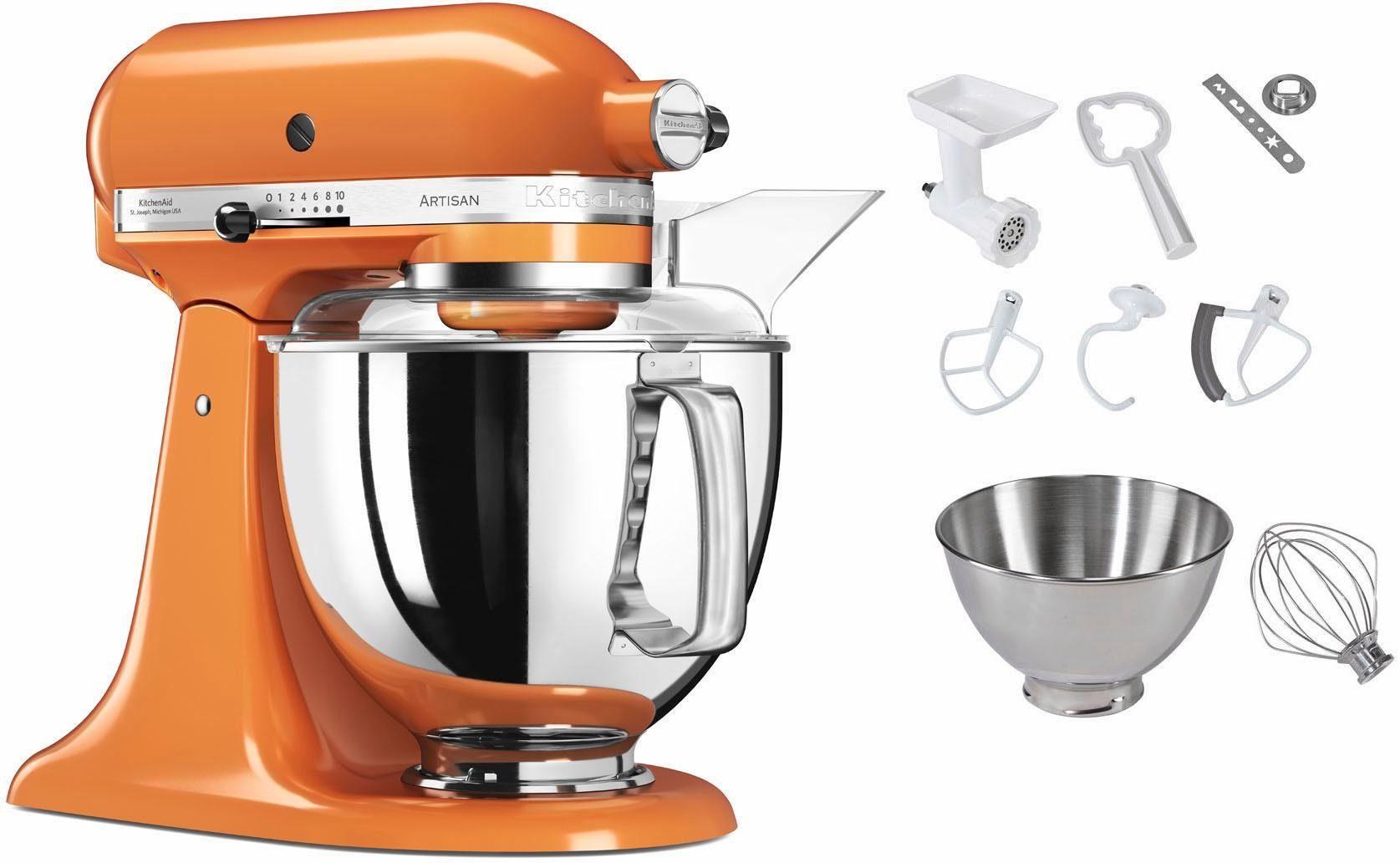 KitchenAid Küchenmaschine 5KSM150PSETG Artisan, 300 W, 4,83 l Schüssel, inkl. Sonderzubehör im Wert von ca. 112,-€ UVP