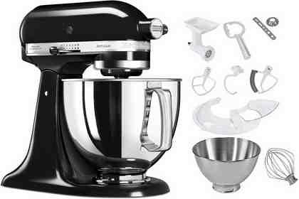 KitchenAid Küchenmaschine 5KSM125PSEOB Artisan, 300 W, 4,83 l Schüssel, inkl. Sonderzubehör im Wert von ca. 252,-€ UVP