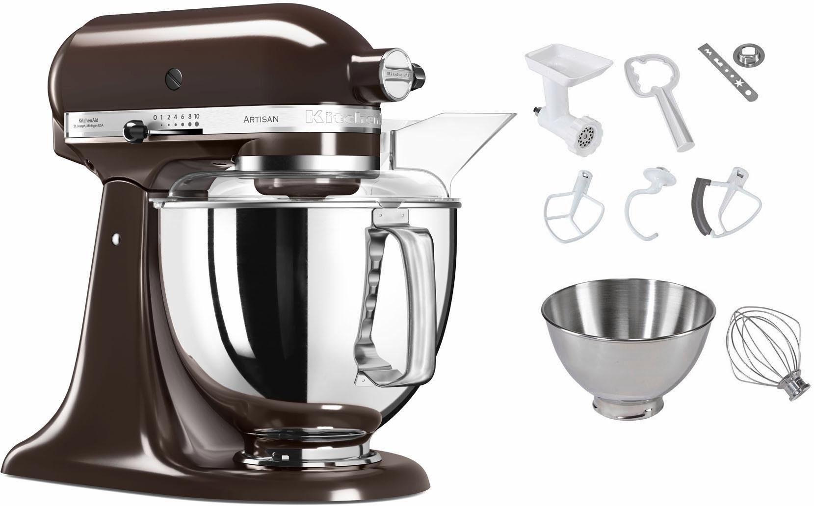 KitchenAid Küchenmaschine 5KSM175PSEES Artisan, 300 W, 4,83 l Schüssel, inkl. Sonderzubehör im Wert von ca. 106,-€ UVP