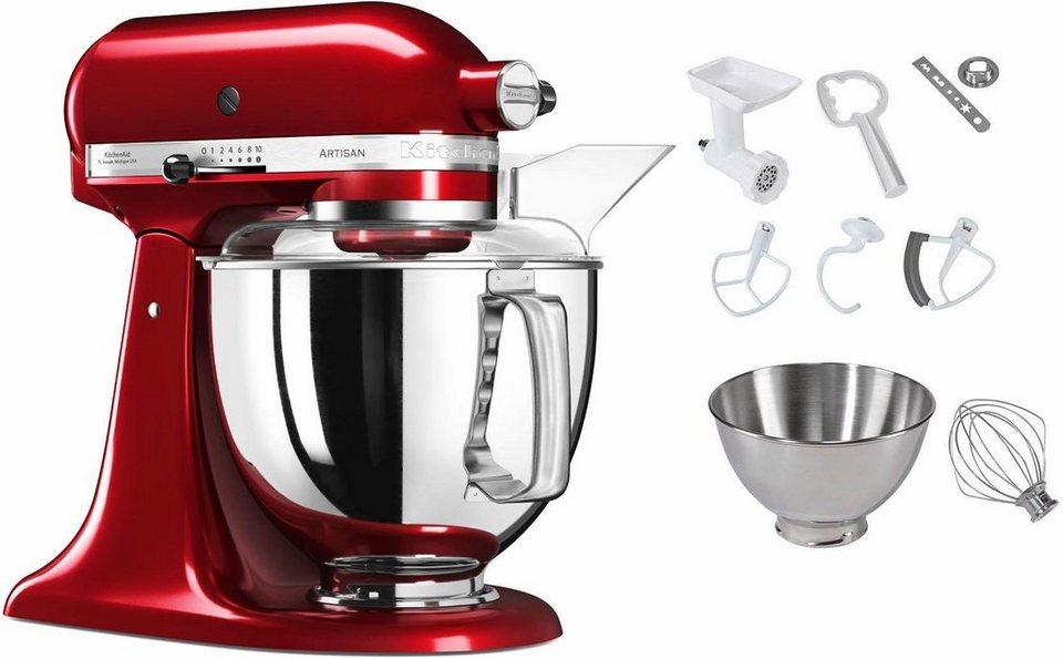 KitchenAid Küchenmaschine 5KSM175PSECA Artisan, 300 W, 4,83 l ...