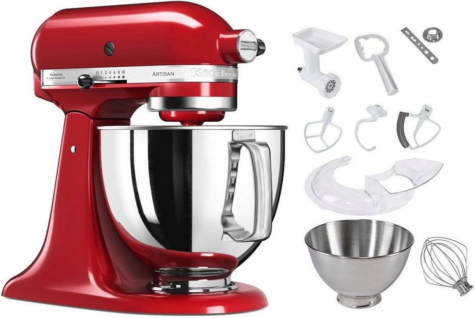 kitchenaid küchenmaschine artisan rot 5ksm150pseer | haus design ...