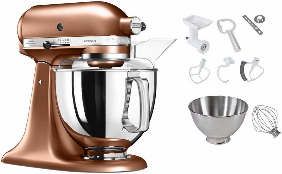 kitchenaid k chenmaschine 5ksm175psecp artisan 300 w 4 83 l sch ssel inkl sonderzubeh r im. Black Bedroom Furniture Sets. Home Design Ideas