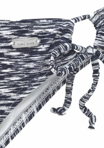 Venice Beach Bikini-Hose Melange mit seitlichen Bindebändern
