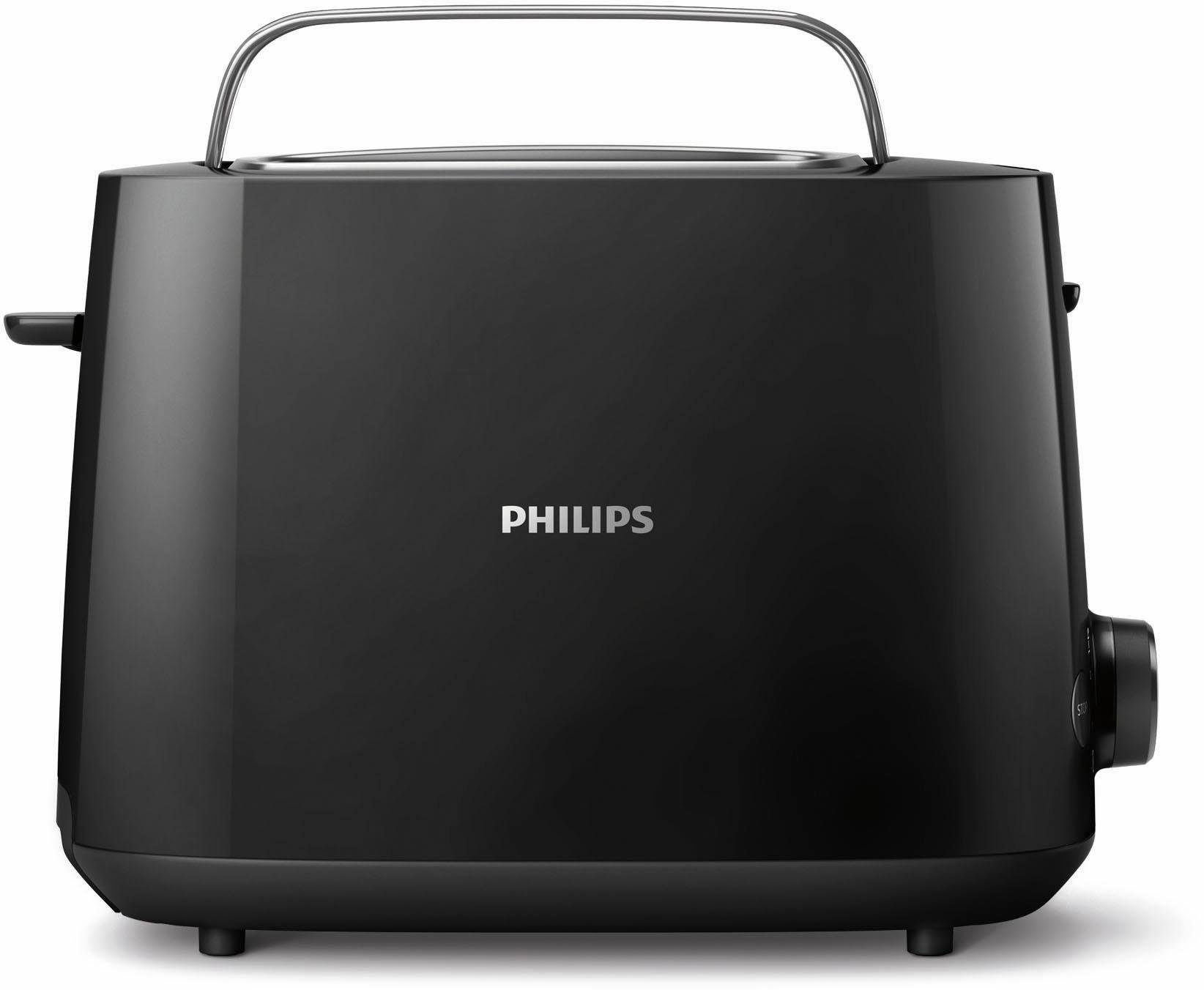 Philips Toaster HD2581/90 Daily Collection, 2 Toastkammern, 830 W, schwarz