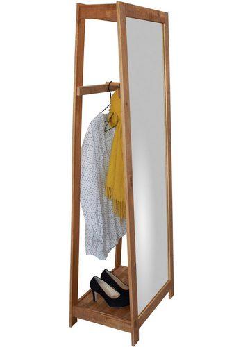 Home affaire Garderobenständer Nantes mit Spiegel braun  