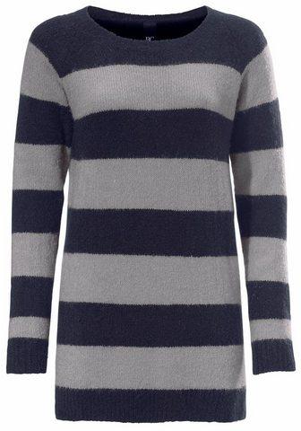 HEINE CASUAL Ilgas megztinis su dryžiai su d...