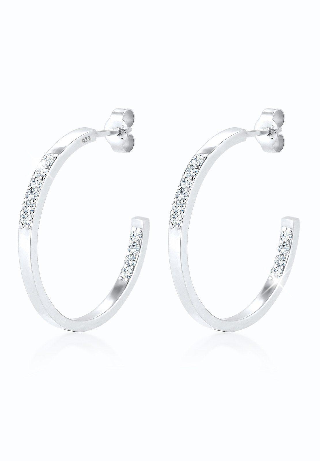 Elli Ohrringe »Creole Swarovski® Kristalle 925 Sterling Silber«