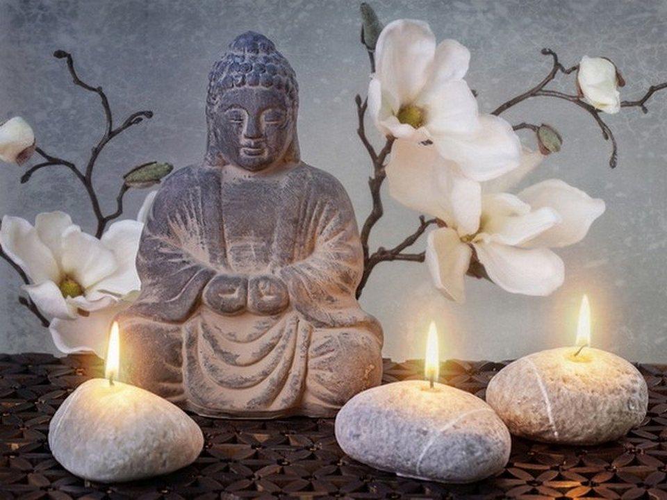 hti living led bild buddha online kaufen otto. Black Bedroom Furniture Sets. Home Design Ideas
