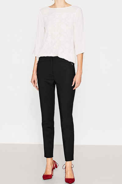 ESPRIT COLLECTION Gepflegte Stretch-Pants, Baumwoll-Mix Sale Angebote Proschim